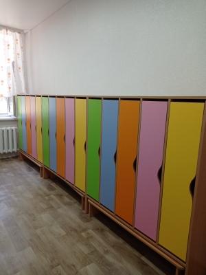 Instituția a fost dotată cu dulăpioare pentru copii și dulapuri pentru angajații blocului alimentar